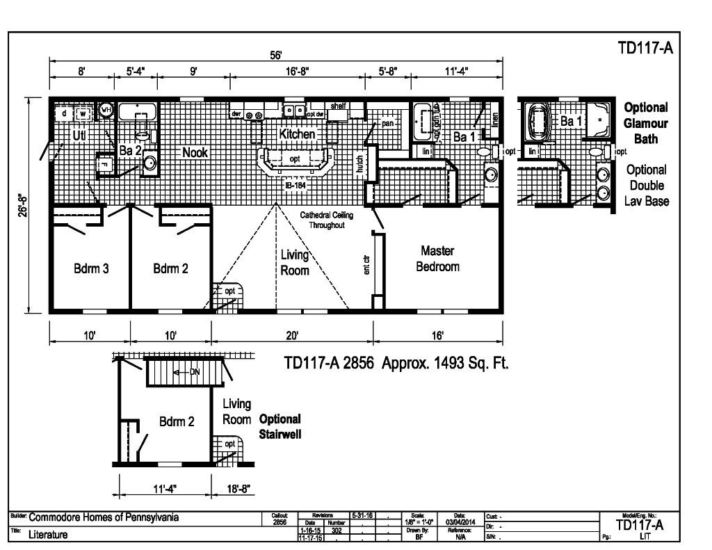 Blazer - - TD117A | Find a Home | Commodore of Pennsylvania on commodore mobile home pricing, single wide homes floor plans, modular home floor plans,